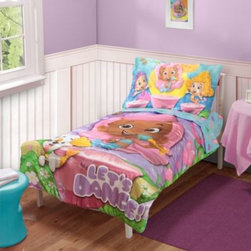 "Baby Boom - Baby Boom Bubble Guppies Let's Dance Toddler 4-Piece Bedding Set with Reversible - Your Favorite Bubble Guppy Character, Molly, ""stars"" in this bedding set, along with her pals Bubble Puppy and Gil. The Let's Dance pattern is sure to delight. Easy-care polyester."