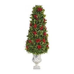 Winward Designs - Holly Berry - Add a permanent holly topiary to your front porch for an elegant symbol of the season. It's a beautiful way to welcome your friends and family for a festive celebration. Enjoy it year after year and store it safely with the rest of your annual decorations.