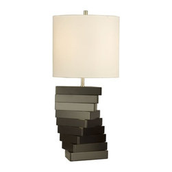 """Nova Lighting - Nova Lighting 11816 28"""" Height Table Lamp Torso Collection - 28"""" Height Table Lamp from the Torso CollectionStacked triangles offers a bold and stunning design. Blending clean, geometric lines with high gloss black tones and nickel accents, this table lamp design offers a striking contemporary accent. NOVA Classic designs demonstrate a soft, simple sensibility. Our product ranges from simple modern to bold architectural to warm transitional. We develop product out of wood, metal, glass, and fabric to enhance contemporary and transitional room settings.Features:"""