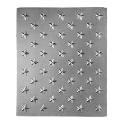 "Pennsylvania Firebacks - 14"" x 21.5"" 14"" Field of Stars Fireback - This fireback, like the 18"" Field of Stars can be used alone or in combination with other units to fit a variety of fireplace sizes.Three 14"" Field of Stars Firebacks used together forms a 42"" x 21 1/2"" fireback."