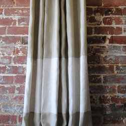 Custom Two-Toned Banded Knife Pleated Drapery Panel - Looking for handmade, lovely window treatments that won't break the bank? I found these lovely ones made of 100 percent linen on Etsy!