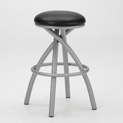"Tempo - Apollo 34"" Backless Swivel Extra Tall Bar Stool - Tempo was founded in 1970 and is recognized today as the fashion leader for casual dining, pub tables and barstools. The companys product line features contemporary, transitional and traditional styling. Tempo is recognized for its commitment to quality, comfort, and a broad assortment of custom choices that feature high performance fabrics, durable non-toxic powder coat finishes, glass and wood tops in a variety of sizes and chairs that feature stationary seating, swivel and tilt swivel designs. Thank you for selecting Tempo to become part of your home décor. Features:  -34"" Backless Swivel Extra Tall Bar Stool. -Customize the Apollo bar stool to suit your needs. -Over 50 fabric options and 18 finishes to choose from. -Constructed for commercial or residential use. -16 Gauge steel. -Some assembly required. -Seat height: 34"". All Tempo Metal stools utilize a commercial grade 16 guage stainless steel. These are the most durable stools in the industry. TEMPO INDUSTRIES, INC. warrants its iron metal product construction to be free from defects in workmanship and materials for the life of the product. Fabric coverings and moving parts are not covered by this warranty."