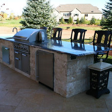 Mediterranean Outdoor Grills by Springhetti Custom Outdoor Living