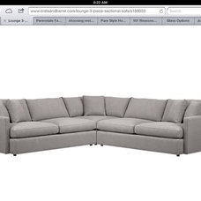 This is the couch we both love at Crate and Barrel. It's the Lounge There is a g