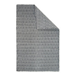Hook & Loom Rug Company - Deerfield Lt Grey/Dk Grey Eco Cotton Rug - Very eco-friendly rug, hand-woven with yarns spun from 100% recycled fiber.  Color comes from the original textiles, so no dyes are used in the making of this rug.  Hand-bound edges instead of hems, so it is 100% reversible for twice the wear. Machine wash and tumble dry. Made in India.