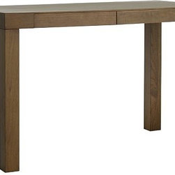 """Parsons Desk with Drawers - I cannot say enough about how versatile the Parsons Desk with Drawers is. I have one in my home, and as I move things around, it's been my computer desk, a console, a buffet, and currently serves as a dressing table in my room. This is a classic desk that whomever you give it to will hang onto for life. If your loved one needs a stylish desk, this is the one!Wood construction.Two drawers close flush for a smooth surface.48""""w x 24""""d x 30""""h.Simple assembly required$299.00"""