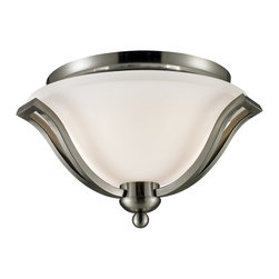 Z-Lite - Z-Lite Lagoon Ceiling Light X-NB-2F407 - This lustrous two light Ceiling Light lamp paired with its brushed nickel finish and its matte opal shade brings with it an air of refined class.