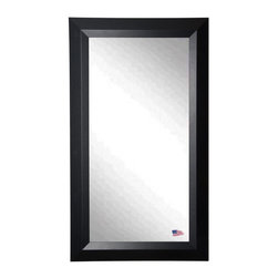 Rayne Mirrors - American Made Solid Black Angle Full Length Mirror - Accent your favorite room with this classic, time honored, black full length mirror design. Rayne's American Made standard of quality includes; metal reinforced frame corner  support, both vertical and horizontal hanging hardware installed and a manufacturers warranty.