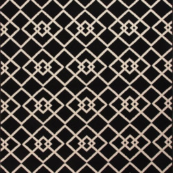 "Jaipur - Indoor/Outdoor Patio 5'3""x7'6"" Rectangle Black Area Rug - The Patio area rug Collection offers an affordable assortment of Indoor/Outdoor stylings. Patio features a blend of natural Black color. Machine Made of 100% Polypropylene the Patio Collection is an intriguing compliment to any decor."
