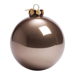 Matte Ornament Ball in Opal Chocolate - An absolute necessity for any tree! You can't have a Christmas tree without your round ornament balls delicately hanging on the branches and shimmering in the soft light.