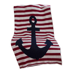 in2green - Eco French Strip w/Anchor Throw - An Eco-friendly throw with a French accent. Vive l'environment!
