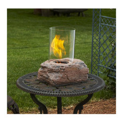Ledgerock Personal Fireplace - How cool is this? Are you ever cold when your spouse is hot? This is a personal fire pit. Buy them  and place on side tables where the big fire pit's warmth doesn't reach.