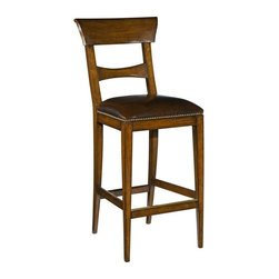 EuroLux Home - New Counter Stool Empire Style Brown - Product Details