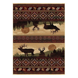 """Tayse - Southwestern/Lodge Nature Hallway Runner 2'7""""x7'3"""" Runner Red Area Rug - The Nature area rug Collection offers an affordable assortment of Southwestern/Lodge stylings. Nature features a blend of natural Red color. Machine Made of Polypropylene the Nature Collection is an intriguing compliment to any decor."""