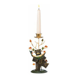 WL - 7.5 Inch Tin Bear's Big Catch Tapered Candle Holder - No Candle - This gorgeous 7.5 Inch Tin Bear's Big Catch Tapered Candle Holder - No Candle has the finest details and highest quality you will find anywhere! 7.5 Inch Tin Bear's Big Catch Tapered Candle Holder - No Candle is truly remarkable.