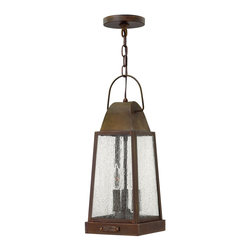 Hinkley Lighting - Hinkley Lighting 1772SN Sedgewick Transitional Outdoor Hanging Light - Sedgwicks all brass construction symbolizes the best of vintage Hinkley quality and style. This traditional tapered rectangular lantern features a charming hinged door with sliding latch for authentic appeal. The classic Sienna finish combines beautifully