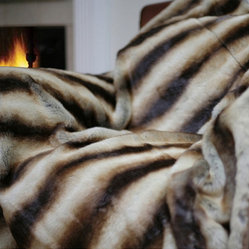 Oversize Safari Faux Fur Throw