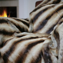Oversize Safari Faux Fur Throw - I love the coziness that a faux fur blanket can offer.