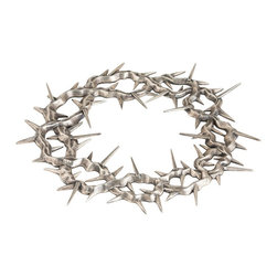 """Arteriors - Crown of Thorns Accessory - Inspired by an original silver 18th century relic piece found in Argentina. Use as """"objet d'art"""". Cast brass with oxidized silver finish."""
