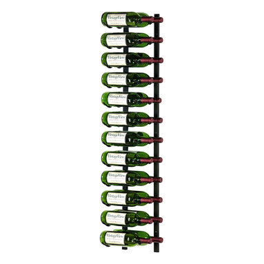 VintageView - VintageView 24-Bottle Metal Wine Rack, Satin Black - Create a wall wine rack system anywhere. These metal wine racks are slightly taller than the WS3 Series, but equally decorative and versatile. Showcase your wine, not the racks. We are proud to be the best dealer of VintageView products in America, and we back our position with unsurpassed customer service.
