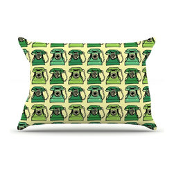"""Kess InHouse - Holly Helgeson """"Vintage Telephone"""" Green Pattern Pillow Case, Standard (30"""" x 20 - This pillowcase, is just as bunny soft as the Kess InHouse duvet. It's made of microfiber velvety fleece. This machine washable fleece pillow case is the perfect accent to any duvet. Be your Bed's Curator."""