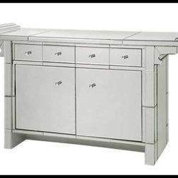 Bungalow 5 - Bungalow 5 Shanghai 2-Door And 2-Drawer Cabinet - BEVELED GLASS: SILVER PULLS