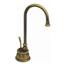 Whitehaus - Forever Hot 4.13 in. Instant Water Dispenser - Color: Antique BrassPictured in antique brass. Includes gooseneck spout. Self closing handle. Fits counter tops up to 2.38 in.. Can be used with wh-tank only. 4.13 in. W x 7.38 in. H (3 lbs.). Warranty