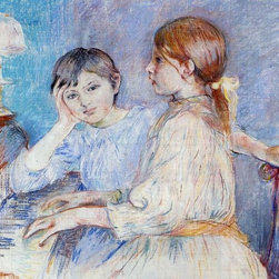 """Berthe Morisot A Piano - 16"""" x 20"""" Premium Archival Print - 16"""" x 20"""" Berthe Morisot A Piano premium archival print reproduced to meet museum quality standards. Our museum quality archival prints are produced using high-precision print technology for a more accurate reproduction printed on high quality, heavyweight matte presentation paper with fade-resistant, archival inks. Our progressive business model allows us to offer works of art to you at the best wholesale pricing, significantly less than art gallery prices, affordable to all. This line of artwork is produced with extra white border space (if you choose to have it framed, for your framer to work with to frame properly or utilize a larger mat and/or frame).  We present a comprehensive collection of exceptional art reproductions byBerthe Morisot."""