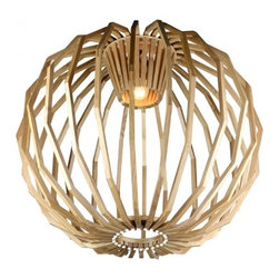 ParrotUncle - Bentwood Apple Shade Hanging Designer Pendant Lighting - Bentwood Apple Shade Hanging Designer Pendant Lighting