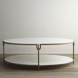 "Global Views ""Olivia"" Marble-Top Coffee Table -"