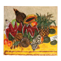 Art panel, glass mural Frida Kahlo mosaic - Frida Kahlo -The Bride Frightened at Seeing Life Opened