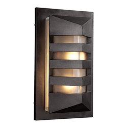 PLC Lighting - PLC 1 Light Outdoor Fixture De Majo Collection 16611/CFL BZ - -Finish: Bronze