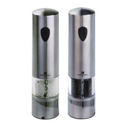 Peugeot Elis Stainless Steel Electric Salt & Pepper Mill Set