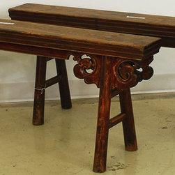 Antique Chinese Gate Bench - Chinese Antique Gate Benches