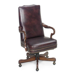 Hooker Furniture - Hooker Furniture Executive Swivel Tilt Chair EC236-069 - Developed by one of America's premier manufacturers to offer quality furniture at affordable prices. Each piece is meticulously hand-crafted using the most exquisite leathers in the world. The empire egyptian burgundy executive swivel tilt chair is crafted using Empire Egyptian leather.