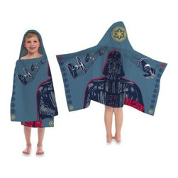 Disney - Disney Star Wars Printed Characters Cape-Style Hooded Towel - Make bath time fun for your little one with this Star Wars hooded towel. Great for role play, this cape-style hooded towel features Star Wars printed on the body and hood, and is made from a super-soft all-cotton fabric.