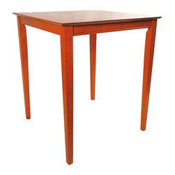 "Boraam - Boraam 42"" Square Wood Top Pub Table in ES Light Cherry - Boraam - Pub Tables - 70664 - Boraam's high quality products are well styled and priced right. Benefitting from years of experience in the industry Boraam knows what you look for in quality furniture and takes pride in getting orders out as diligently as possible. Feel confident that Boraam will take your living space to another level."