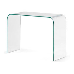 Zuo Modern - Zuo Mecca Console Table - Console Table belongs to Mecca Collection by Zuo Modern The Mecca console today is elegantly formed from clear tempered glass. Console Table (1)