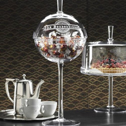 Home Decorators Collection - La Bonbonniere Candy Dish - Our La Bonbonniere Candy Dish, with its oversized, footed design, will greet family and friends with anything from candy to almonds. The dome lifts with the glass knob. Beautiful etching completes the look. Makes the perfect gift for the candy lover in your life.