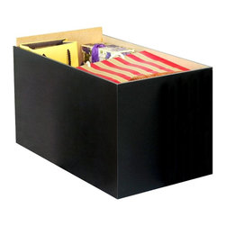 Venture Horizon - Project Center Storage Drawers in Black Finis - Set of 3. Constructed from durable, stain resistant and laminated wood composites that includes MDF. Made in the USA. Assembly required. Weight: 5 lbs. each, 15 lbs. 3 piece set. Inside: 10 in. W x 17.75 in. D x 10 in. H