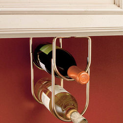 Under-Cabinet Wine Bottle Organizer -