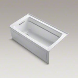 "Kohler Archer Bathtub, Three-wall alcove with apron 60"" x 32"" x 19"""