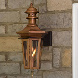 "Adelide Wall Mount Gas Lantern - 24"" - Create a warm ambiance on your porch with the Adelide Gas Lantern mounted to your wall. The flickering flame will be create an inviting presence and be a great first impression on your guests."