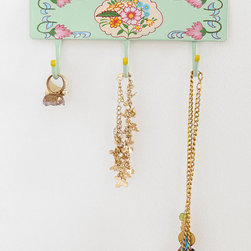 Hand-painted Floral Wall Hook - I love the design and colors of this vintage wall hook. It would look great right by the door.
