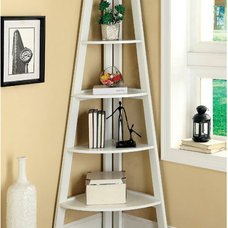 Modern 5-Tier Corner Etagere Display Shelf Unit at Brookstone—Buy Now!