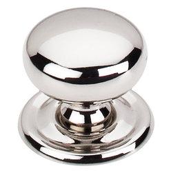 """Top Knobs - Victoria Knob 1 1/4"""" w/Backplate - Polished Nickel - Victoria Knob 1 1/4"""" w/Backplate - Polished Nickel"""