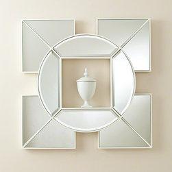 Global Views Arabesque Shadow Box Mirror White - Arabesque Shadow Box Mirror-White
