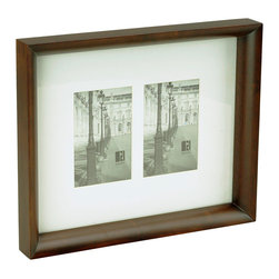 "Boom - Radius Frame (2), 4"" x 6"" - This classic frame with beautifully curved edges features a matte to hold two 4-by-6 images. It can be hung vertically or horizontally depending on the orientation of your chosen images. Either way, it will surely warm your wall and proudly showcase each treasured photo."