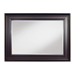 """Framed Goods - Wall Mirror 20X30 - Drak Rosewood - Mirror Details: 20""""x30""""x3/16"""" Thick - 1"""" beveled"""