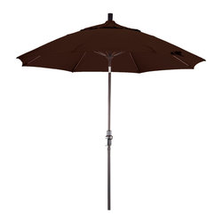 Phat Tommy Aluminum Umbrella Made with Pacifica Fabric, Mocha, 9 Feet - The PHAT TOMMY 9 Foot Aluminum Market Umbrella is part of our Outdoor Oasis Line. It is our highest quality umbrella and features Pacifica fabric. Made of canvas grade polyester fabric, Pacifica fabric will give you years of use. The four year fade, rot and mildew resistant warranty will ensure your umbrella stays looking brand new, season after season. The umbrella frame comes with a one year warranty.